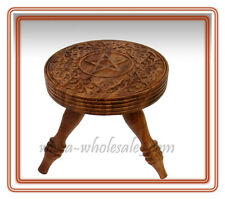 """Pentacle Pentagram Altar Table Wooden  6""""H 5.75""""D FREE SHIPPING"""