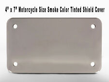 """1- Smoke Color Tinted Motorcycle Acrylic Plastic Shield Protector Cover 4"""" x 7"""""""
