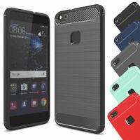 Schutzhülle Carbon Handy Hülle Case Full Cover Silikon Tasche + Panzerfolie Glas