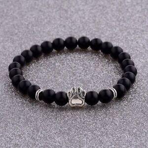 8MM Cute Natural Gemstone Bear's Paw Beads Handmade Tiger's Eye Bracelets Gift