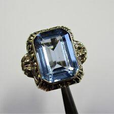 1029 - Attraktiver Art Deco Ring Gelbgold 585 synthetischer Spinell - 2555/39