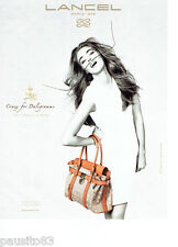 PUBLICITE ADVERTISING 086  2012  Lancel  sac Daligramme par Dali