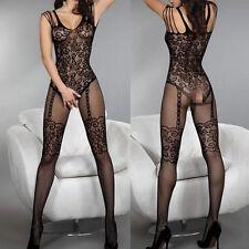 Women Sexy Open Crotch Lingerie Bodysuit Stockings FishnetSheer Body Dress New!