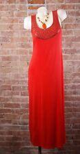 Grace Dresses Womens Maxi Dress Sz M Orange Sequins Sleeveless
