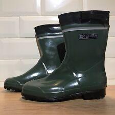 Nokian Finntrim Rubber Green Wellington Boots Size: 7.5 (UK) 41 (EUR) 8.5 (US)