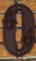 Gußeisen Hausnummer Nummer 0 Nostalgie Zahl Ziffer Lilie Landhaus ca. 8*11cm