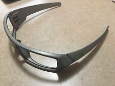 Custom Oakley Gascan Titanium Cerakote With Green Icons Choose Lens Color