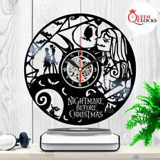 The Nightmare Before Christmas Jack Skellington Sally Vinyl Record Wall Clock Lp