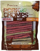 Premium Pork Chomps Munchy Sticks Assorted Natural Beef & Chicken 50ct