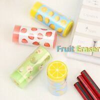 1PC School Supplies For Kids Rubbers Stationery Cute Crystal Fruit Eraser l