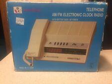 New Vintage Windsor Telephone AM/FM Clock Radio CT-280