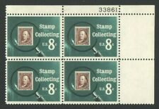 Vintage UnUsed US Postage Stamps Block 8 Cent Stamps   Stamp Collecting