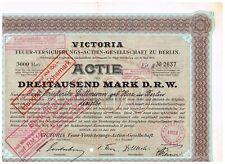 Victoria Feuer-Versicherungs AG zu Berlin, Berlin 1914, 3000 Mark