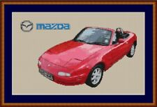 Mazda MX5 Cross Stitch Chart Classic Car Cross Stitch