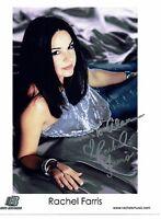 Rachel Farris Hand Signed Photograph 10 x 8