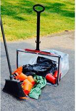 Large Trash Garbage Bag Holder Handle Outdoor Landscape Work Disaster Cleanup