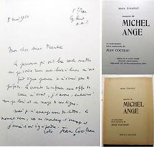 MICHEL-ANGE/SONNETS/M.FRANTEL/LETTRE DE COCTEAU/ED COURTE ECHELLE/1964/EO/ENVOI