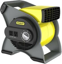 Stanley Pivoting Blower Fan 3-Speed Cooling Ventilating Exhausting Drying Carpet
