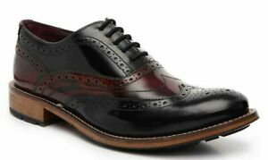 Ted Baker Krelly 2 Men's Leather Wingtip Oxford Brogues Shoe Black Red Size 8