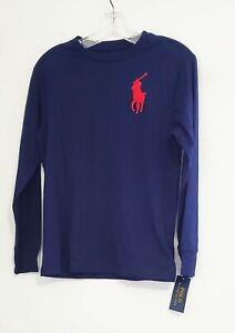 Polo Ralph Lauren Big Boys Cotton T Shirt French Navy Big Pony Sz M (10-12)-NWT