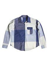 Roxy Breezy Blue Woman Long Sleeve Top Button Down Shirt Size Small