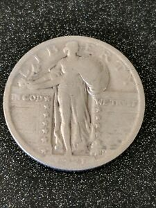 1921 Standing Liberty Quarter Very Rare VF