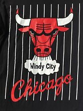 Chicago Bulls Windy City Hardwood Classics We Love Fine Black Logo T-Shirt XL