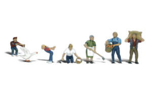 Woodland Scenics :- FARM PEOPLE 7 PCS  HO SCALE FIGURES Brand New & Packaged