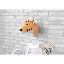 Piper Kids Orange Tiger Wall Decor (10 x 10 x 14 in) W/Hanging Loop; Mounts Easy