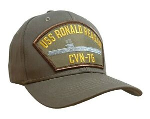 USS Ronald Reagan CVN-76 Classic Ship Hat Khaki Classic Ball Cap