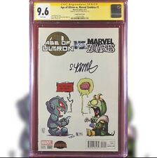 AGE OF ULTRON VS MARVEL ZOMBIES #1 YOUNG VARIANT CGC 9.6 SS SIGNED SKOTTIE YOUNG
