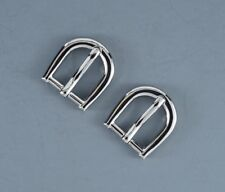 """Woman 3/4""""(20mm) Pin Belt Buckle(#265N) (2 buckles) Polished Silver Color NEW"""