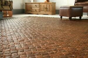 Luxury Leather Rug Handwoven in Kent, England Reclaimed Eco-Friendly Flooring