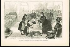 1886 Antique Print - SCOTLAND EDINBURGH ROYALTY VISIT ROYAL BLIND ASYLUM (052B)
