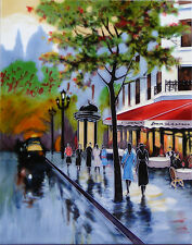 "Avenue Champs Elysees by Brent Heighton Decorative Ceramic Tile 11x14"" 05026"
