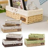 Handmade Seagrass Braid Woven Storage Basket Bin Box Case Container Organizer
