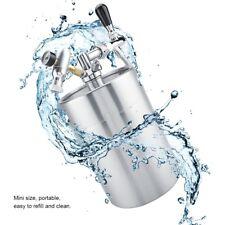 Mini 5L Edelstahl Fass Hause brauen Bierfass Flasche + Wasserhahn Spender