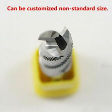 3F*12*75L HRC55 Roughing Router End Mills With Waved Edges End mill For Aluminum