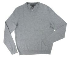 NEW BLOOMINGDALES 100% MERINO WOOL MED GRAY CREWNECK PULLOVER SWEATER SIZE 2XL