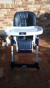 Adjustable Foldable Baby Highchair Blue - Used