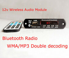 Remote Control USB SD FM MP3 Player Module Bluetooth Audio Receiver Módulo 12V