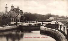 Hertford. The Lock, River Lea by E. Munnings, Hertford.