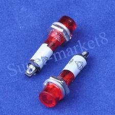12PC Marshal Pilot Light Red 6.3V Mini LED Tube Guitar Amplifier DIY New