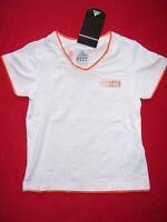 TEE SHIRT fille ADIDAS neuf manches courtes taille 12 ans coloris blanc - orange