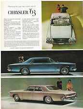Vintage 1963 Magazine Ad Chrysler Crisp Simplicity of Line Formal Look & Flair