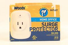 NEW WOODS HOME OFFICE SURGE & TELEPHONEPROTECTOR MODEL 6911, 810 JOULES RATING