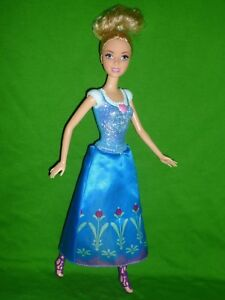 Disney Cinderella Barbie Doll ~ With Frozen Doll Skirt