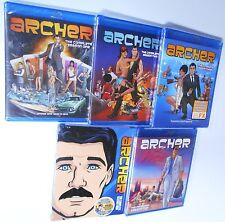 Archer 1, 2, 3, 4 & 5 - Blu-ray TV Shows 75 Episodes 100% Authentic BRAND NEW