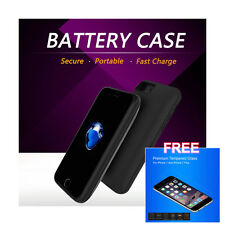 Built-in Magnet External Backup Battery Cover Charging Case for Apple iPhone 7