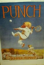 Mr Punch At Tennis By Frank Reynolds